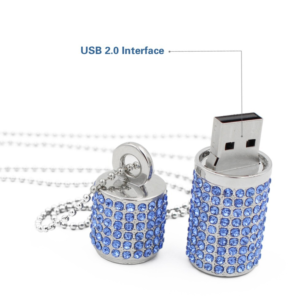 Crystal Necklace Usb Memory Stick