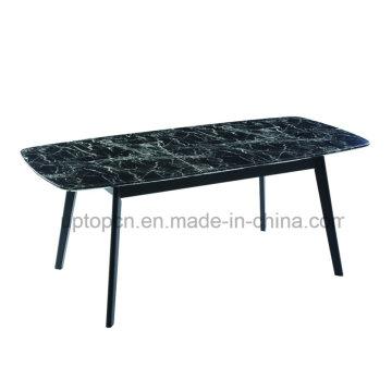 Table de travail à marbre Tabouret en marbre noir avec 4 jambes (SP-GT434)