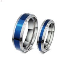 Bijoux en acier inoxydable romantique bon marché d'anneaux, anneau gravé par coutume