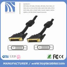 Cable de alta velocidad plateado oro DVI a DVI 24 + 1 varón al varón 3m los 5m 10m