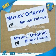 Chinesische Importe Großhandel benutzerdefinierte Vinyl zerstörerten Aufkleber Tamper Siegel mit Seriennummer