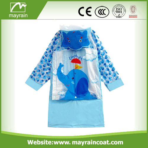 Print Waterproof Kids PU Rainsuit