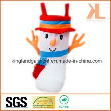 Polyester Haute qualité Décoration de Noël Snowman Style Brown Candy Boot