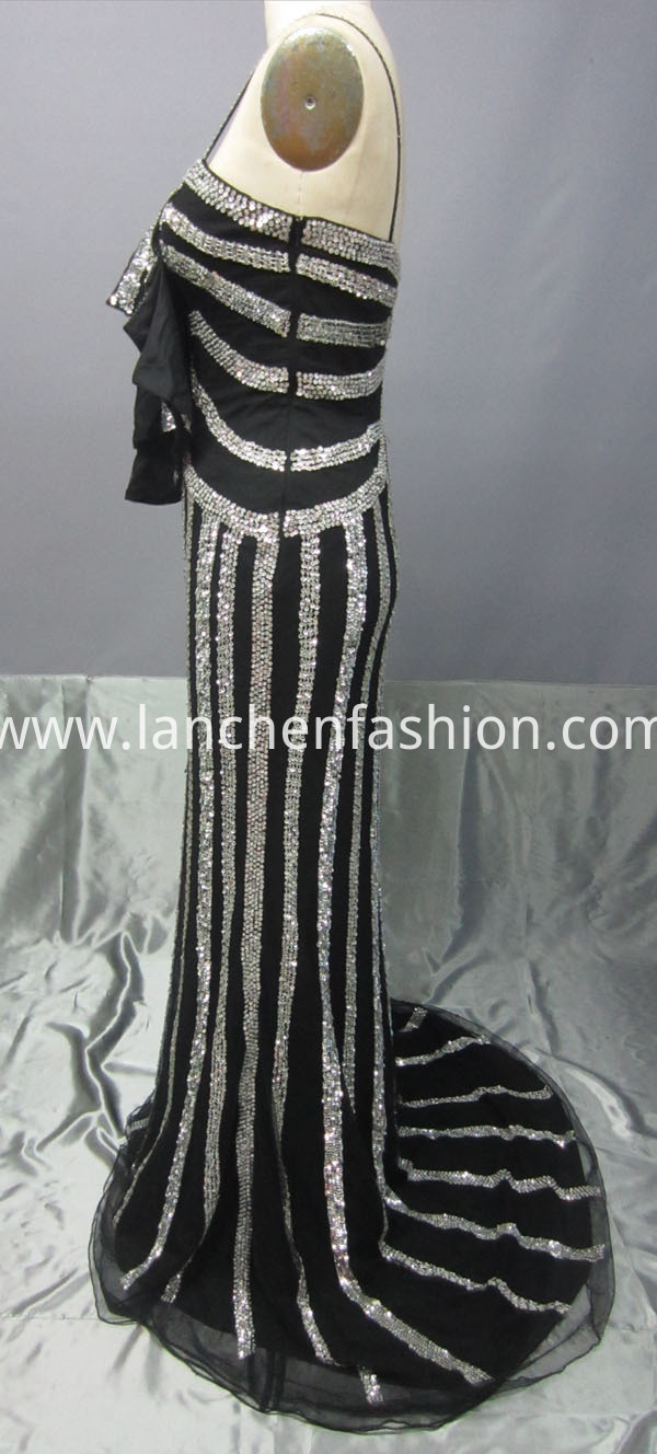 Long Spaghetti Strap Prom Dress