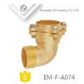 EM-F-A074 encaixe de tubulação do tipo flange de cotovelo de bronze de raio curto
