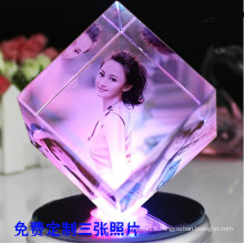 Creative Crystal Cube Photo Frame for Birthday Gift (KS19845)