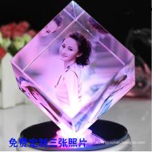 Criativo Moldura Crystal Cube Photo para presente de aniversário (KS19845)