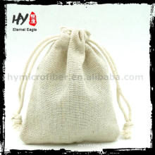 Multifunctional canvas drawstring calico pouch with high quality