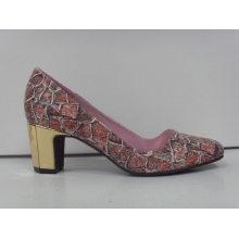 2016 zapatos de vestir de las señoras Chuncky del alto talón de la manera (HCY03-086)
