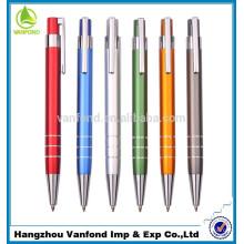 Самые популярные пользовательские Канцелярские товары рекламных Алюминиевая шариковая ручка