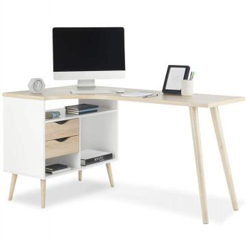 Amazon Hot verkopen Office Design desktop computer tafel met boekenplank