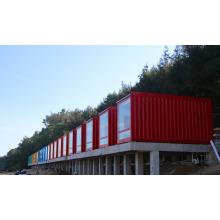 Casa pré-fabricada pré-fabricada de contêineres / caixa de transporte de contentores / contentores à venda