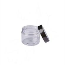 plastic cosmetic cream jar with screw lid