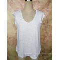 Moda Bambu De Algodão Com Decote Em V Personalizado Atacado T Shirt Da Menina