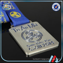 wholesale iron medal with blue ribbons
