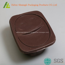 Recipiente de alimento plástico descartável com tampa