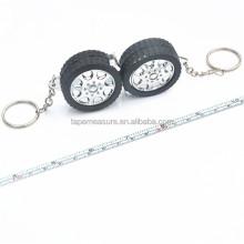 Multi-Purpose Pocket Tools Tyre Shape Key Chain Measure Tape Gift