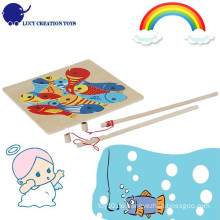 Kinder-hölzernes Magnet-Fischen-Puzzlespiel-Spielzeug