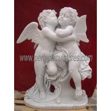 Escultura de mármore de pedra da escultura do querubim da estátua do anjo (SY-X042)