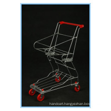 Chrome Plated Basket Shopping Trolley