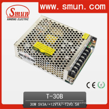 Fonte de alimentação 5V12V-12V do interruptor da saída do triplo 30W