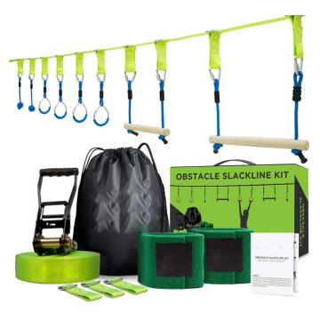 Kit de linha de pista de obstáculos GIBBON Ninja Slackline 40 pés
