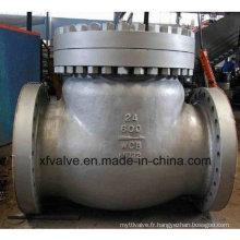 Vanne de retenue de finition à bride en acier moulé standard de grande taille ANSI