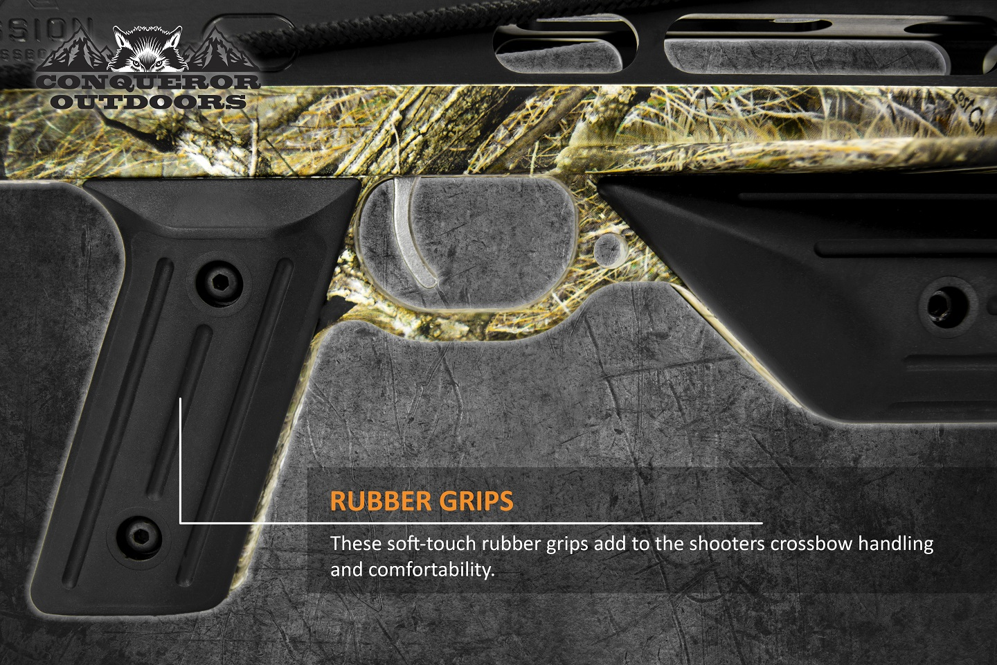 Mission Crossbow 400 Grip Detail with Text