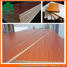 15/18mm Competiitve Price Embossed/Glossy/Texture Melamine MDF for Furniture
