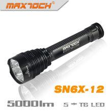 Maxtoch-SN6X-12 5000 Lumen LED-Taschenlampe superhelle Warm weiße LED-Taschenlampe