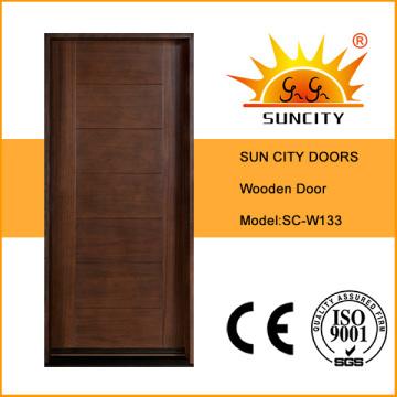 Interior de la puerta principal de madera del dormitorio de lujo (SC-W133)