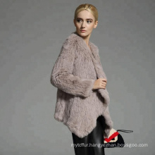Good price women winter real rex rabbit fur coat