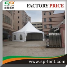 100% guarantee aluminum Hexagonal Pagoda party dome Tent with transparent PVC windows