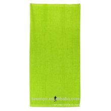 100% coton brodé vert serviettes de plage très doux