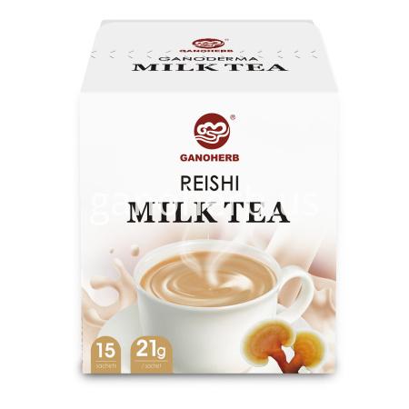 Milk Tea Mixed with Reishi Mushroom Ganoderma Extract Powder, Instant Tea Powder