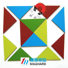 Educational Toy Magnetic Puzzle both sides colour triangle 16pcs/set