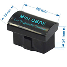 OEM/ODM schwarz V2. 1 Mini Obdii Elm327 Bluetooth-Schnittstelle Auto Scanner OBD2 Elm 327 Auto Diagnose-Tool für Android MOQ 1000Stck