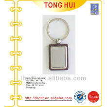 Metal square shape blank key finders for promotion gifts