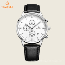 Multifunctional Chronograph Watch Men Wrist Watch with Leather Strap 72487