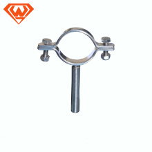 COLOR zinc-planted SCREW 7*30 Single&Double without rubber PIPE CLAMPS