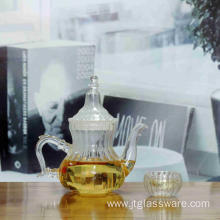 Heat Resistant Pumkin Shaped Glass Teapot