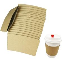 Porte-gobelet en papier jetable Porte-gobelet à café personnalisé Manchon de gobelet en papier