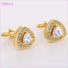 VAGULA Quality Hot Sales Gold Gemelos Zircon Cuff Links   (327)
