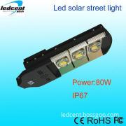 80W led solar light solar street lights with digital control system
