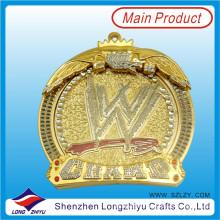 Пользовательские литья цинковый сплав металла медаль с кристаллом
