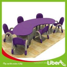 Tables et chaises en plastique pour enfants LE.ZY.159