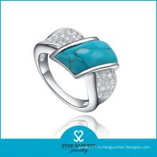 Серебряные бирюзовые кольца из высококачественного серебра