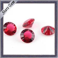 Garnet Round Shape Millennium Cut Glass