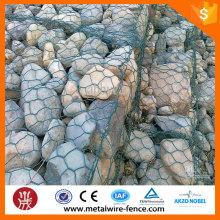 Marca de diamante galvanizado / PVC recubierto Gabion caja / Gabion Cage / Gabion cesta