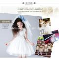 Ballkleid-geschwollene Blumenmädchen-Fee-Abendkleid wester Parteiabnutzungs-kleines Königinblumenmädchenkleid mit billigem Preis